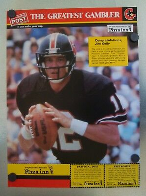 JIM KELLY 1985 HOUSTON POST~THE GREATEST GAMBLER~POSTER/WITH COUPONS](Post Coupons)