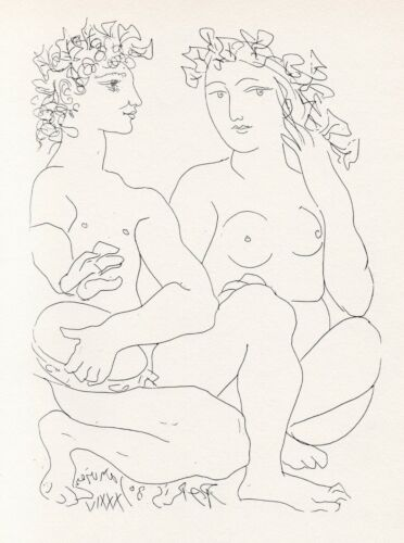 Pablo Picasso, Young Bacchus with Tambourine with a Bacchante, Vollard Suite