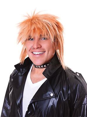 80s Punk Rock Star Stachelig Blond Rod Stewart Herren Verkleidung - Punk Star Kostüm