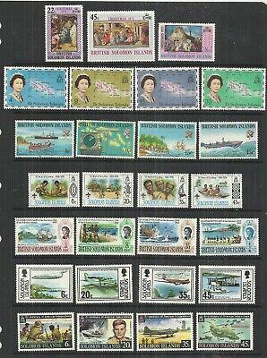 (A98) British Solomon Islands - 1960s–1980s UM Selection (9 Scans)