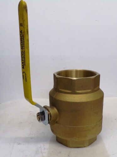 "MATCO NORCA BALL VALVE, 759, 4"" THREADED FORGED BRASS"