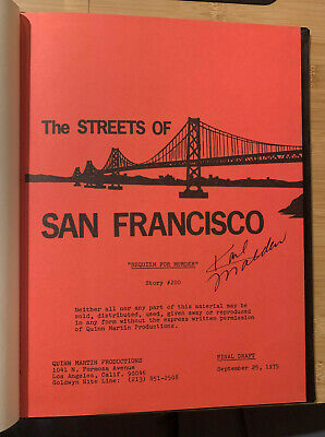 BOUND STREETS OF SAN FRANCISCO FINAL DRAFT SCRIPT KARL MALDEN SIGNED! Autograph