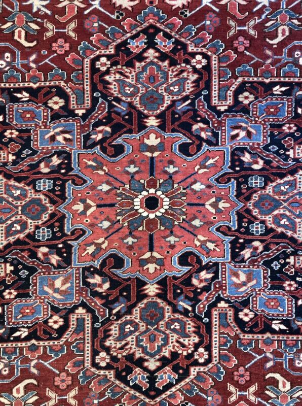 Terrific Tribal - 1900s Antique Oriental Rug - Nomadic Carpet - 9.6 X 12.7 Ft.