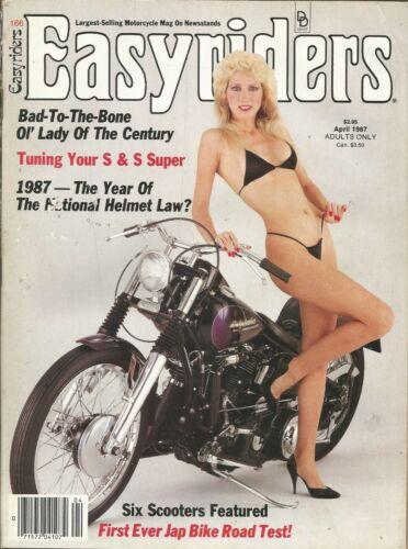 VINTAGE APRIL 1987 EASYRIDERS MAGAZINE MOTORCYCLES HELMET LAW OL