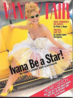 Vanity Fair  magazine  May 1992  Donald Trump's wife Ivana  Hillary Clinton