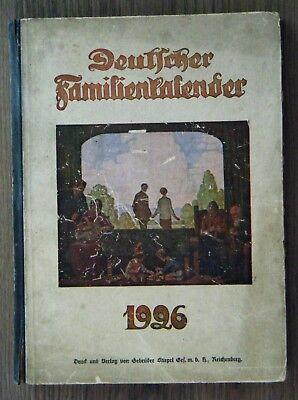 Deutscher Familienkalender 1926 Reichenberg Böhmen Nordböhmen mit viel Reklame