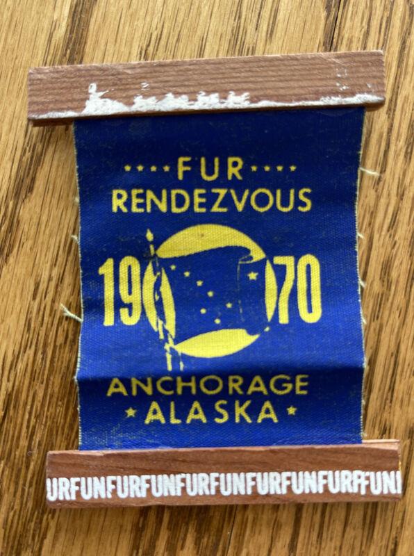 1970 Alaska Fur Rondy Rendezvous Pin Anchorage Dog Race Festival Winter Iditarod