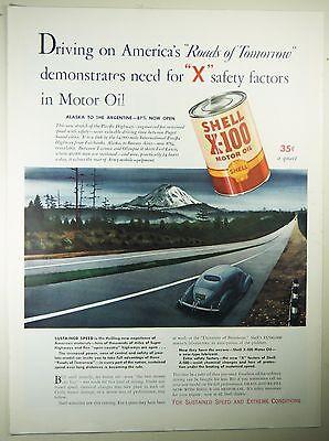Vintage 1941 SHELL GASOLINE Lg Magazine Print Ad: FORT LEWIS, WA