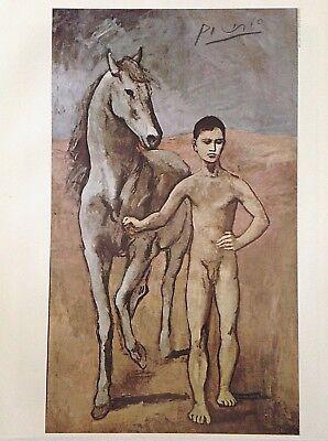 PABLO PICASSO HAND SIGNED SIGNATURE * BOY LEADING A HORSE * PRINT W/ C.O.A.