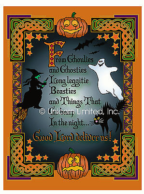 HALLOWEEN GHOULIES AND GHOSTIES ART PRINT - Perfect for  Samhain, Celts](Celts Halloween)