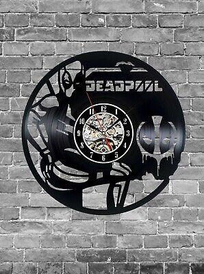 Deadpool Vinyl Clock, Wall Clock, Home Decoration, Movie Vinyl Gift Idea