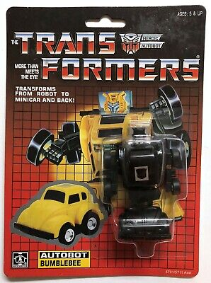 TRANSFORMERS G1 AUTOBOT BLACK BUMBLEBEE MOSC! US SELLER VERY RARE!