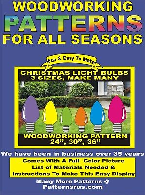 christmas light bulbs WOODWORKING PATTERN yard art, crafts, plans  patternsrus ()