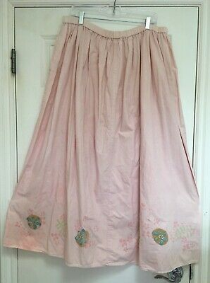 FUN VINTAGE BLUE FISH SKIRT, PINK WITH LOVELY FLORAL PRINTS With Love Print Skirt