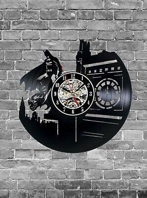 Batman Wall Clock Vinyl Record Batman Gift For Boy Him Room Decor Batman Wall