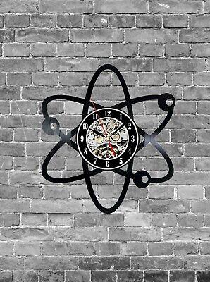 Atom Wall Clock Atom Decor Neutron Electron Proton Chemistry Art Science Art