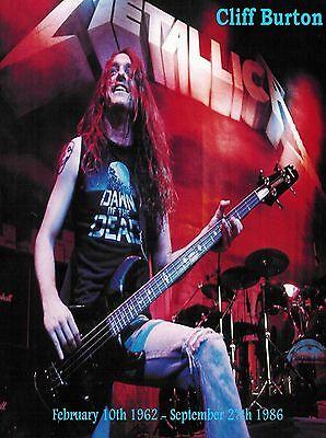 Metallica-Cliff Burton Tribute  poster repro..