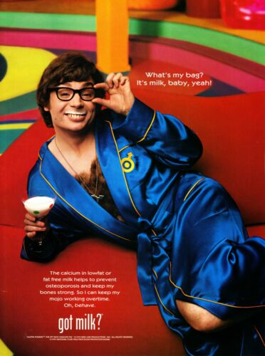 GOT MILK? AD 1999 AUSTIN POWERS ~ THE SPY WHO SHAGGED ME ~ MICHAEL MYERS