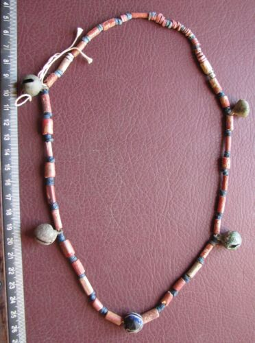 Authentic Ancient Lake Ladoga VIKING Artifact > Necklace Beads with bells  RJ 44