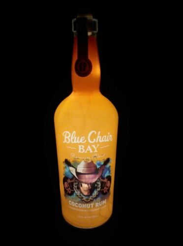 RARE! Lighted Blue Chair Bay Commemorative Bottle. EMPTY