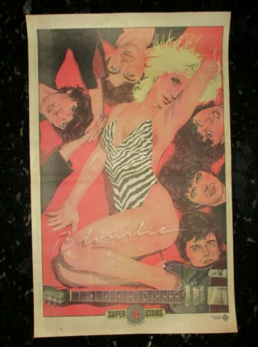 "Blondie RARE New York Daily News SUPER STARS Poster #4 21 1/2"" X 13 1/2"" N Mint"