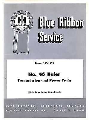 International 46 Baler Trans Power Train Service Manual