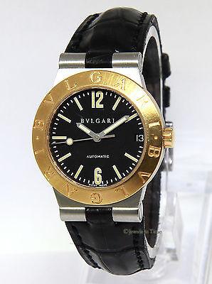 Bvlgari Ladies Diagono Steel 18k Yellow Gold Watch LC 29 SG Bulgari Box/Papers