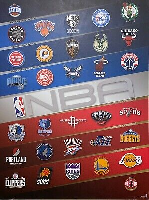 NBA Basketball Team Logo Wall Décor Wooden Sign (NBA