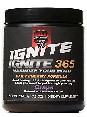 Ignite365: Top Selling Pre-Workout - Great tasting - Guaranteed Results -Grape
