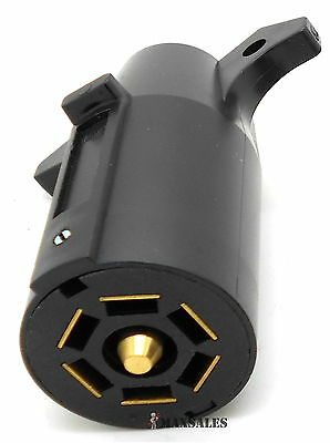 (New Trailer End 7 way Male Round RV Style Light Plug Connector )
