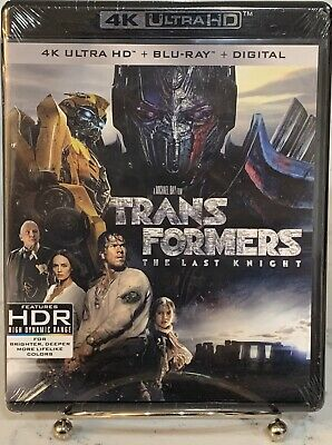 Transformers The Last Knight 4K Ultra HD + Blu-Ray + Digital No Slipcover NEW!