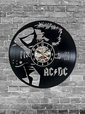 ACDC clock, Rock Band Fan Clock,Rock Music Clock, Unique Wall Clock Wall Decor