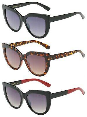 GISELLE Oversized Cat Eye Big Large Lens Sunglasses Black Retro Cute 80 (Cat Eye Sunglasses Black)