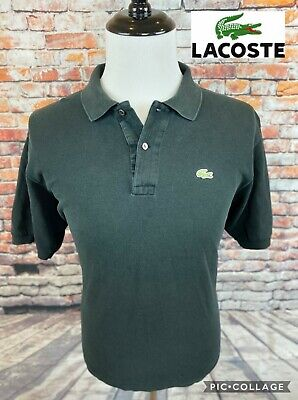 Lacoste Devanlay Black Solid Cotton Pique Mesh Knit Croc Logo Polo Shirt XL 7