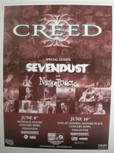 CREED CONCERT POSTER 2000