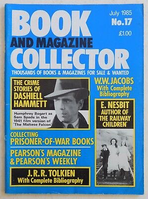 BOOK & MAGAZINE COLLECTOR #17 - 7/1985 - Dashiell Hammett, Tolkien