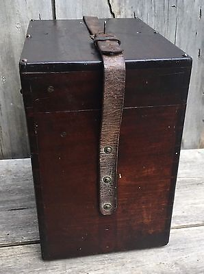 Antique YOUNG & SONS Surveyor's Transit Mahogany CASE ONLY c. 1875 **FREE SHIP**