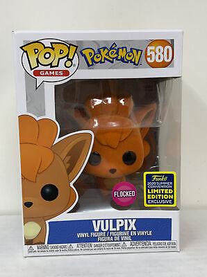 Pokemon Funko Pop! Flocked Vulpix Flocked SDCC 2020 Exclusive #580 w/Protector