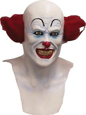 ADULT SCARY EVIL DEMENTED CLOWN LATEX MASK WITH CHEST PIECE COSTUME TB26580 - Demented Clown Costume