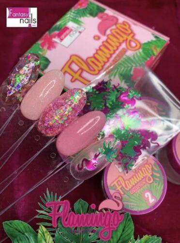 Fantasy nails  Flamingo acrylic collection. Powdered Acrylic