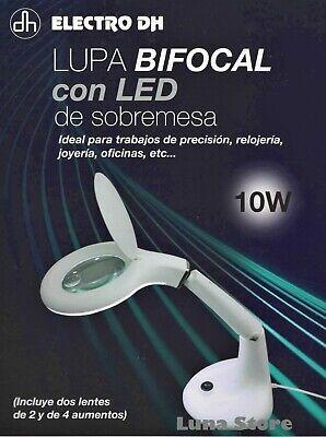 Lampara Lupa Bifocal De Sobremesa Con 32 LEDs De Alta Luminosidad