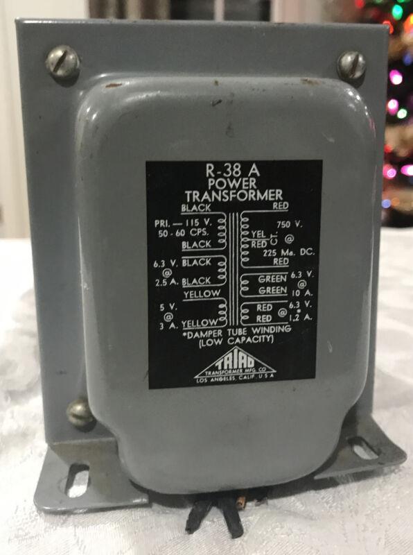 TRIAD R-38 A POWER TRANSFORMER