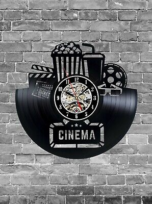 Cinema art Popcorn item Cola decor Cinema party Cinema wall decor Cinema clock