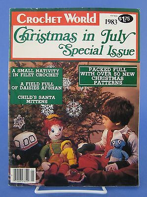 Christmas in July Special Issue Crochet World Magazine 1983
