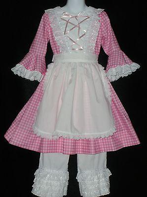 Little Bo Peep Costume For Girls (Little Bo Peep Deluxe Costume Dress 4 pc Custom made Girls Sizes)