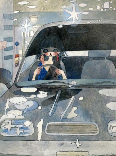 "Aya Takano ""drive With A Night Dog"" 2006 | Signed Lithograph | Japanese Pop Art"