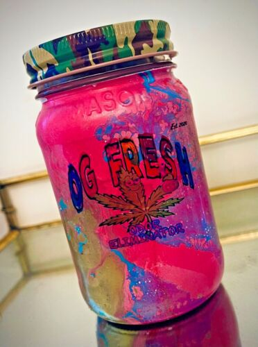 Hippie Smoke and Odor Eliminator Soy Candle w/ Hemp Wicks | 16oz OG Fresh Scent