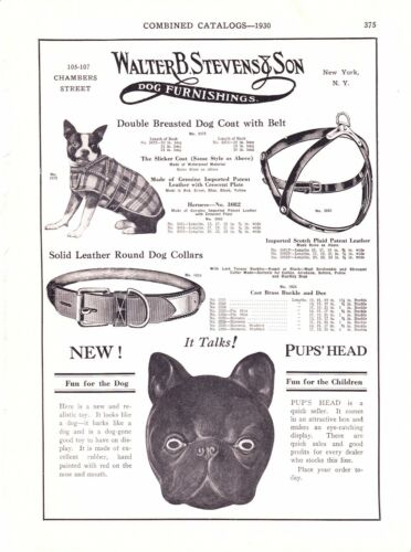1930 Sporting Goods Journal Pg  Vintage Fishing Lines Westfield MA ~ Dog Collars