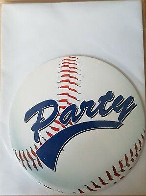 1x Pack of 8 Baseball Themed Party Paper - Baseball Themed Birthday Invitations