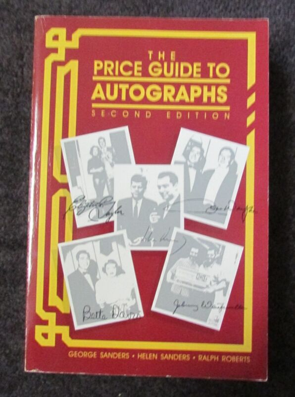 PRICE GUIDE TO AUTOGRAPHS PAPERBACK BOOK 2ND EDITION 1991